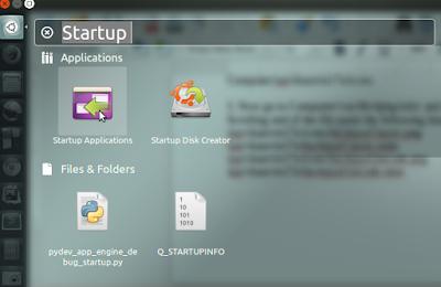 Startup Applications in Linux Ubuntu