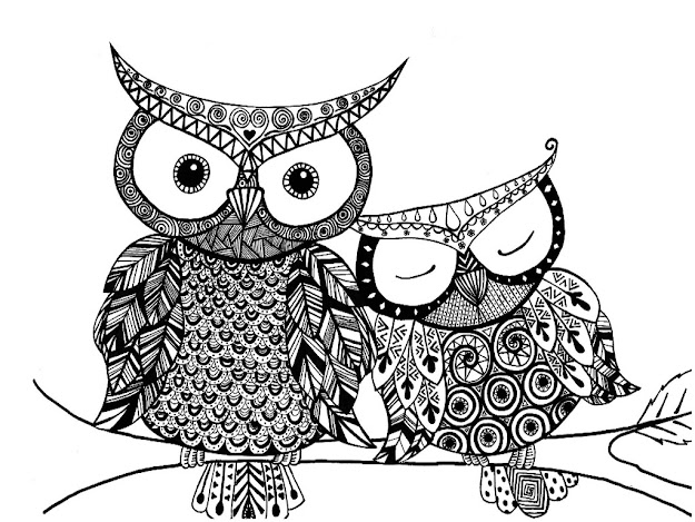 Owl Mandala Coloring Pages With Owl Mandala Coloring Page