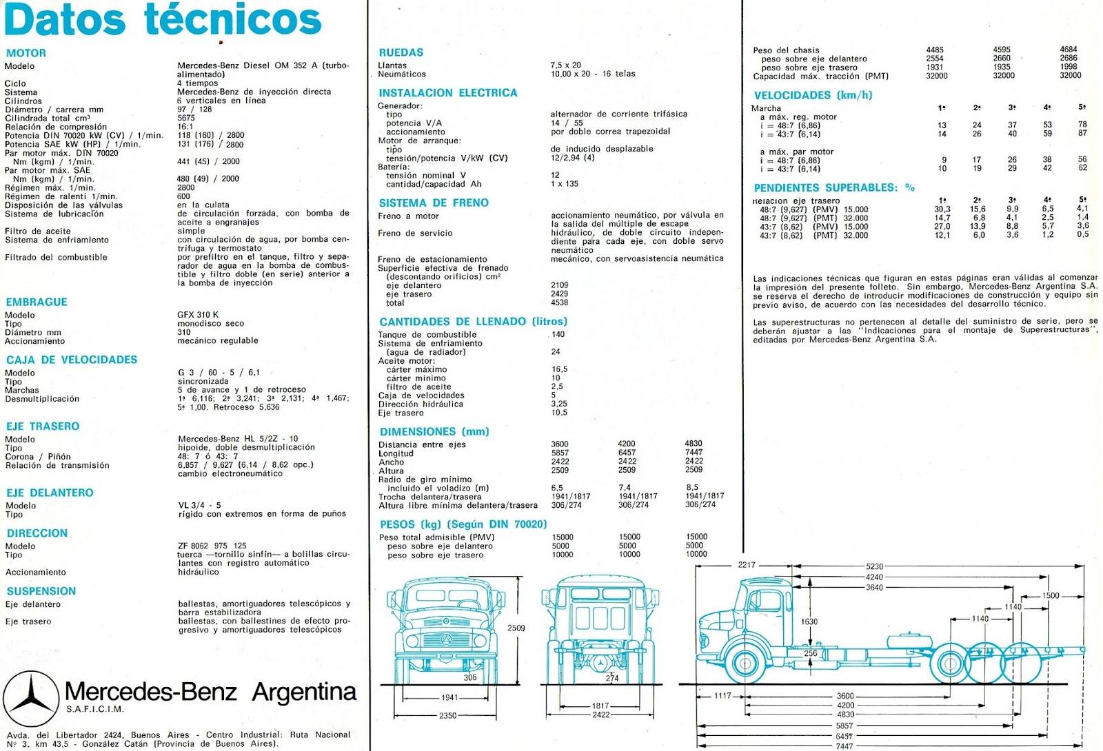 Cami 243 N Argentino Mercedes Benz L Ls Lk 1518