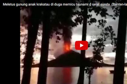 Viral! Beredar Video Letusan Gunung Anak Krakatau yang Diduga Picu Tsunami di Selat Sunda