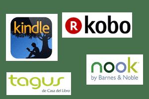 Logotipos de grandes marcas de ereaders