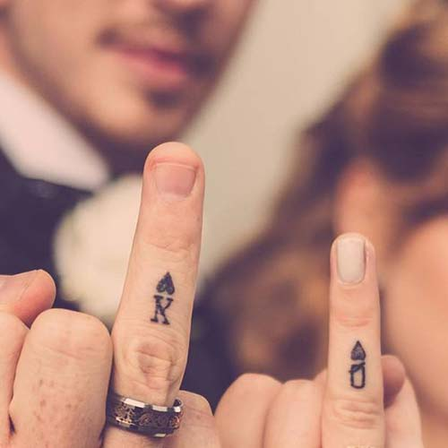 kupa maça yüzük parmağı dövmeleri wedding rin tattoos for couples