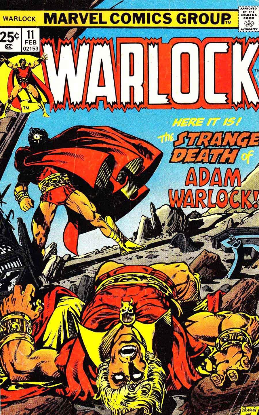 Warlock v1 #11 marvel 1970s bronze age comic book cover art by Jim Starlin