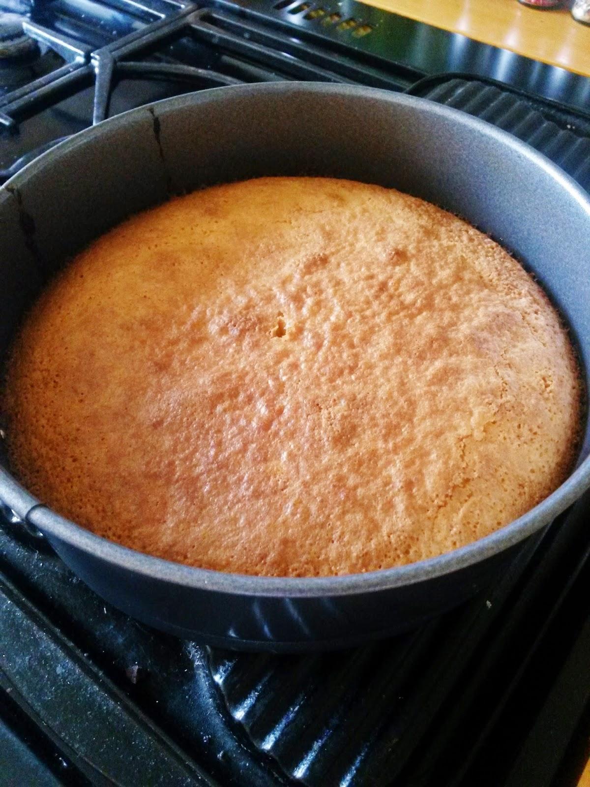 Homemade flourless almond cake