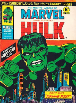 Mighty World of Marvel #139, the Hulk