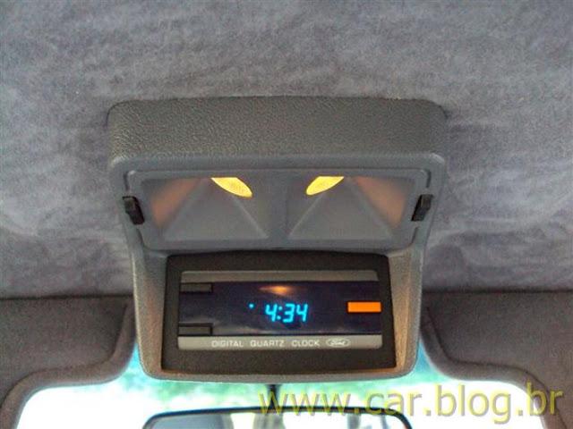 Ford Del Rey Ghia 1.8 1989 - relógio digital de teto