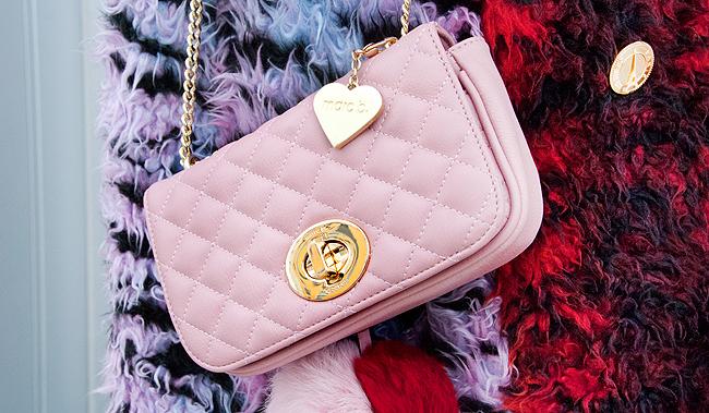 Marc b., pink bag, bag with chain