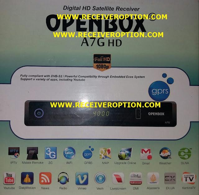 OPENBOX A7G HD RECEIVER CCCAM OPTION