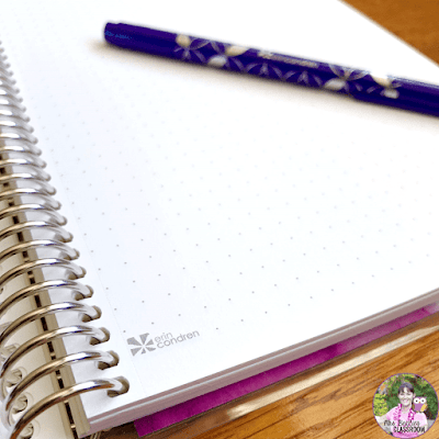 Erin Condren Coiled Journal with dotted paper