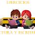 EJERCICIOS  LECTURA Y ESCRITURA PARA 1° Y 2° PRIMARIA