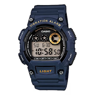 casio g-shock men's watch w-735h-2a-vibration alarm navy blue color review underwater