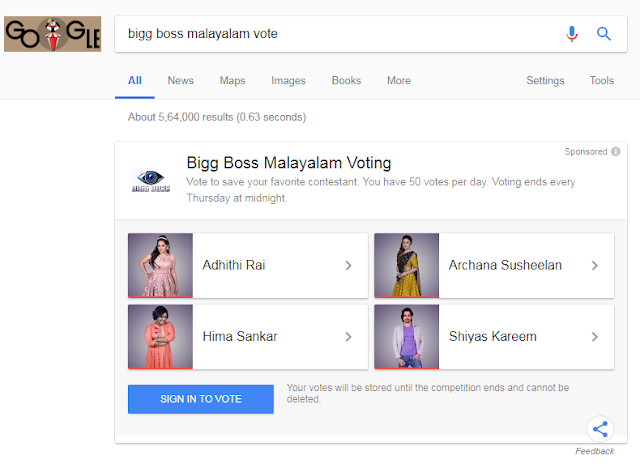 Bigg Boss Malyalam Voting official