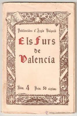 els furs de Valencia