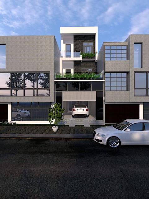 Phối cảnh thiết kế nhà phố bằng Revit