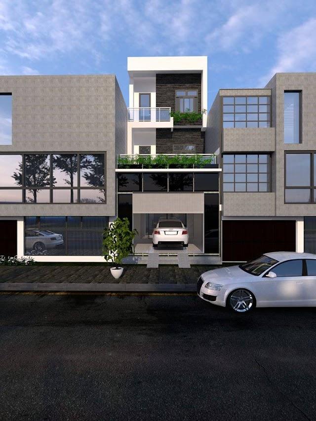 Chia sẽ full bộ hồ sơ thiết kế nhà phố bằng Revit
