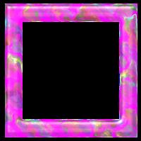 Moldura quadrada pink mancha - criação Blog PNG-Free
