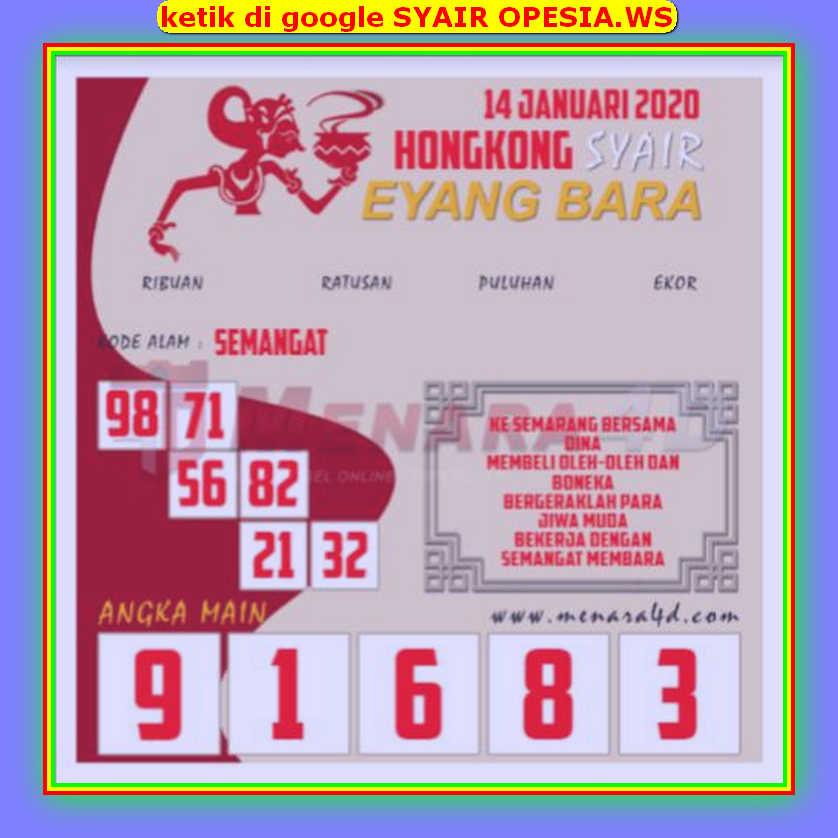 Kode syair Hongkong Selasa 14 Januari 2020 169