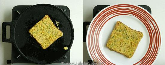 Besan bread toast step 5