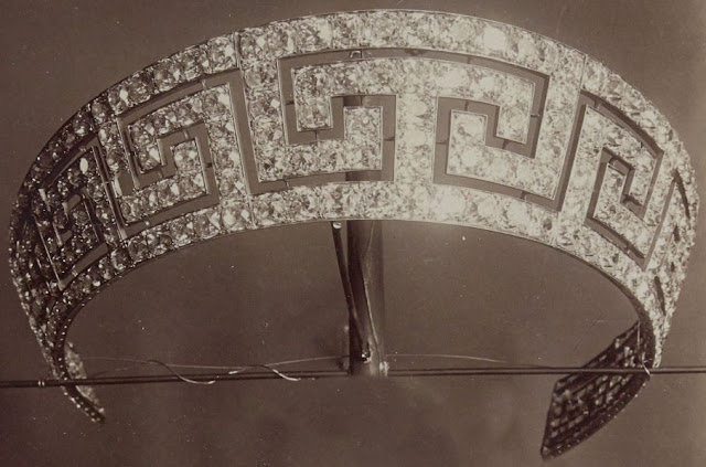 Empress Eugenie France Meander Greek Key Tiara Bapst