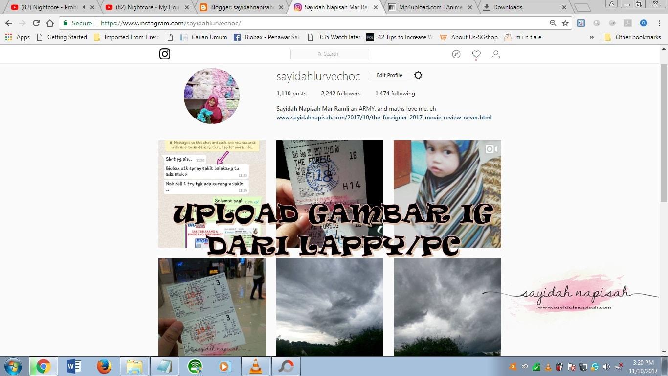 Cara Mudah Upload Gambar Instagram Dari Laptop / PC