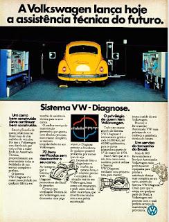 propaganda  sistema VW Diagnose - 1974, Sistema Volkswagen Diagnose - 1974, propaganda Volkswagen - 1974, vw anos 70, carros Volkswagen década de 70, anos 70; carro antigo Volks, década de 70, Oswaldo Hernandez,