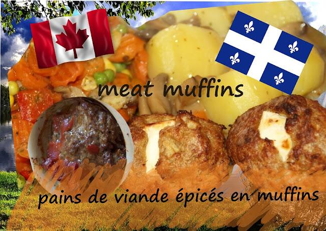 pains de viande individuels en muffins, épicés, cuisine Québec, Canada