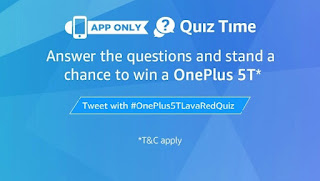 (All Answers) Amazon Oneplus 5T Quiz : win OnePlus 5T
