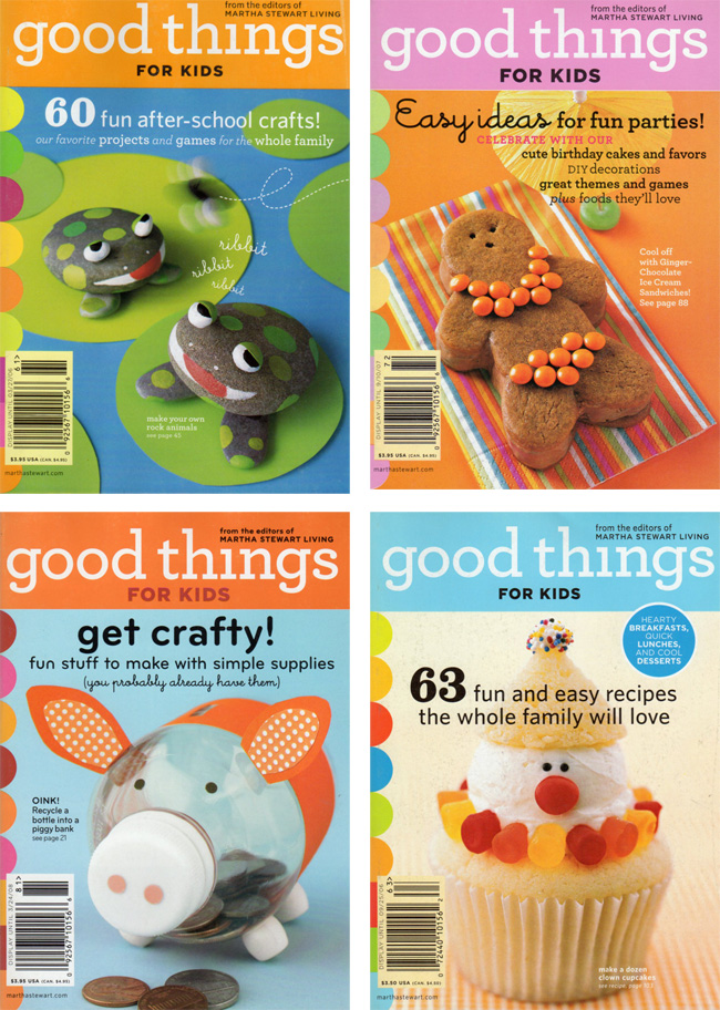 Four Of Them Shown Above Were Compilations Kids Projects And Recipes Taken From The Pages Martha Stewart