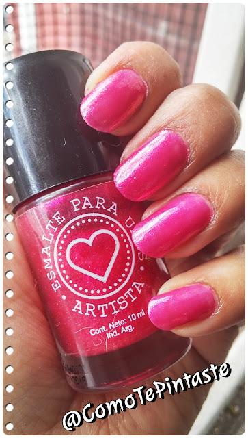 esmalte rosa artista