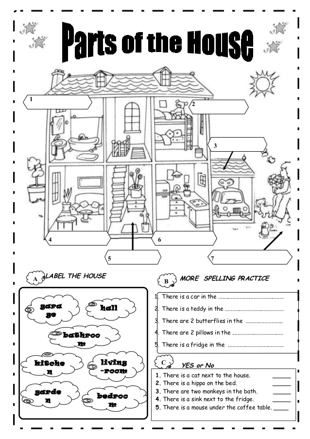 inglês4classes: HOUSE PARTS AND FURNITURE---PARTES DA CASA