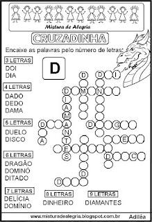 Cruzadinha com a letra D