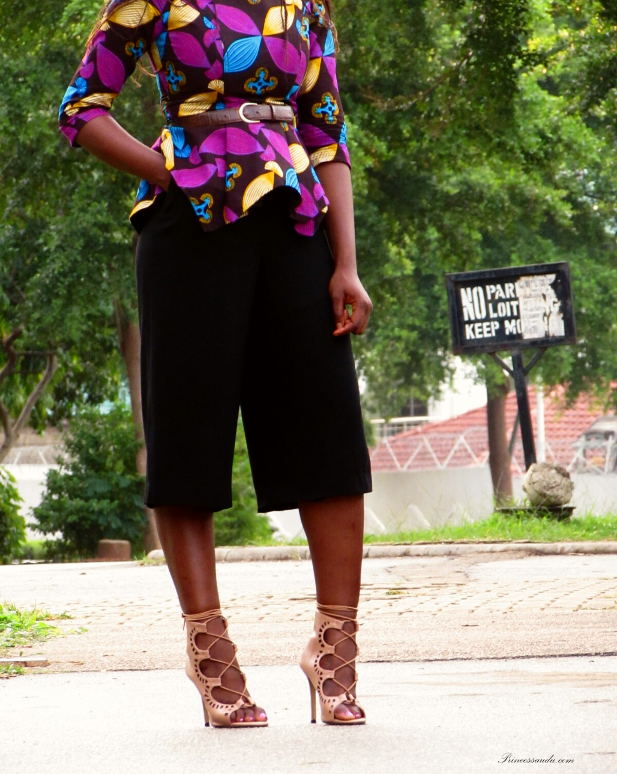 Ankara peplum top, made in Nigeria, made in Aba, African prints, culottes