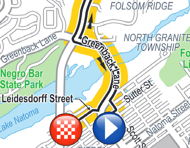 Folsom start ramp and finish line area Amgen Tour of California