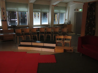 storsjung på Hagaskolan med en berättelse skriven av eleverna som väver ihop sångerna.