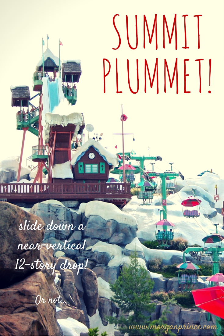 Blizzard Beach, Walt Disney World | Morgan's Milieu: A pinnable image of Summit Plummet