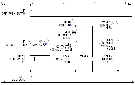 star delta starter control wiring diagram with explanation flowchart schematic diagram for the control circuit of a ...