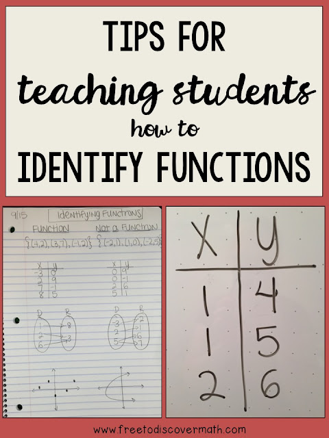 Tips for Teaching Students How to Identify Functions