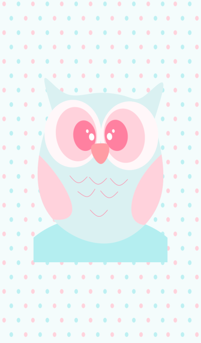 Simple Baby Owls Pastel v.2