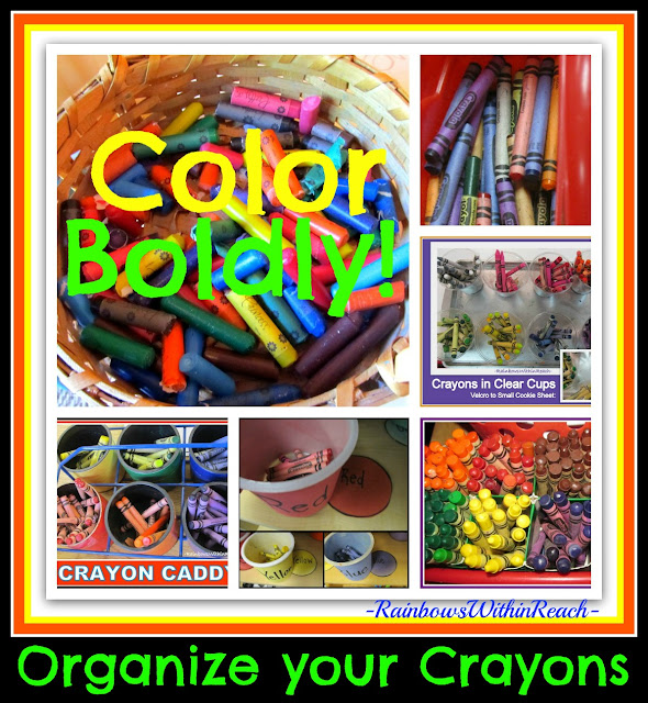 photo of: Organize your Crayons: crayon caddies of all types