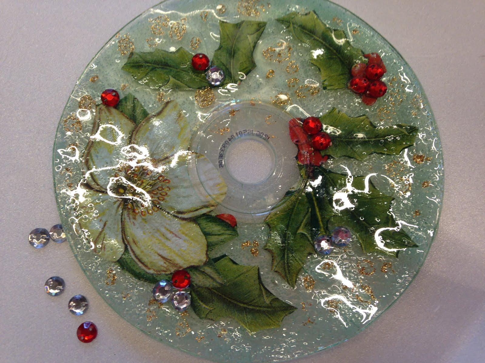 En las fotos se puede apreciar la transparencia y las for Cd reciclados decoracion