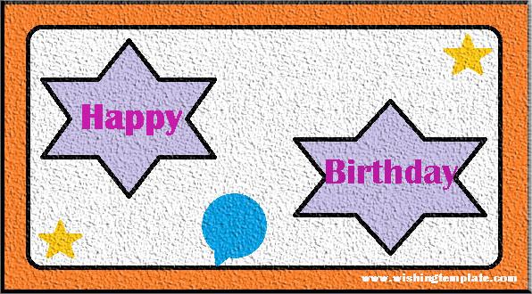 Happy Birthday With Star,Happy Birthday wishes