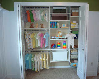 baby nursery hanging closet storage organizer bin
