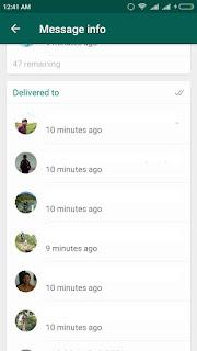 Melihat Teman yang Sudah Membaca Chat pada Grup WhatsApp