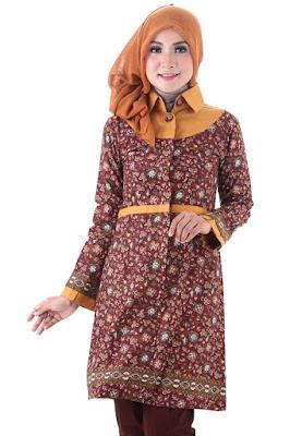 Desain Baju Batik Modern Muslim