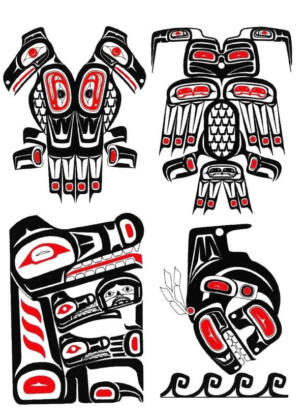 Flames Onthesideofmyface Haida Tattoo Designs Ideas Images Photos