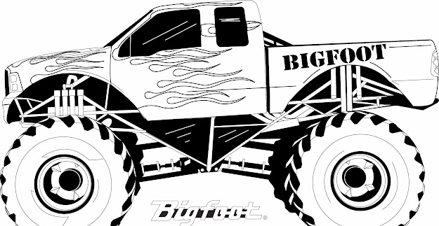 Monster Truck Coloring Pages Transportation Printable Coloring
