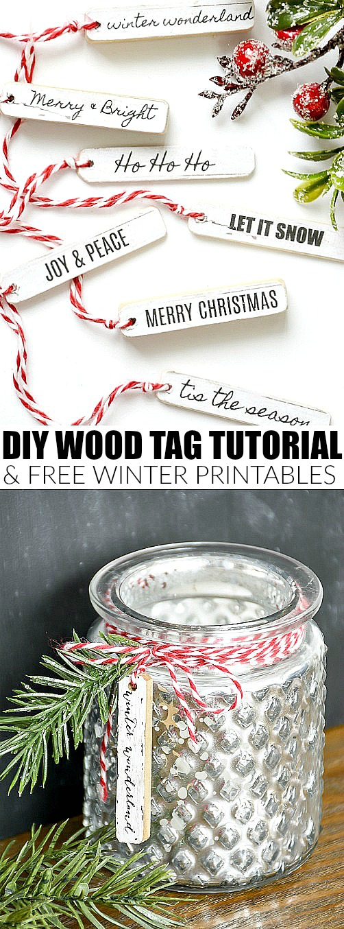 Free printables, printable, Christmas printable, wood tags, holiday decor
