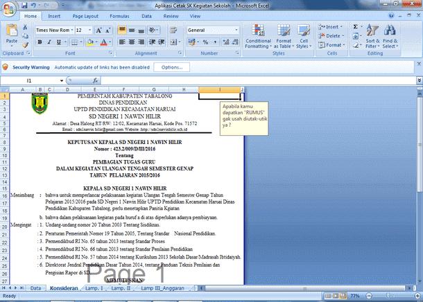 Download Kumpulan Contoh Aplikasi SK(Surat Keputusan) Sekolah Semua Jenjang