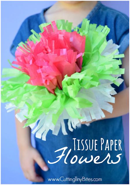 Tissue paper flowers what can we do with paper and glue tissue paper flowers classic kids craft perfect spring or summer project for preschoolers mightylinksfo