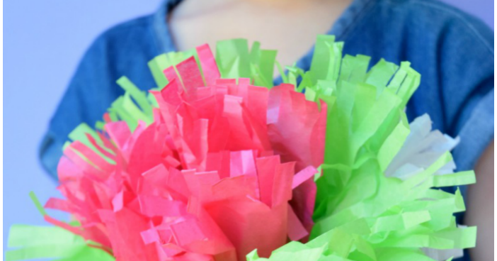Tissue paper flowers what can we do with paper and glue mightylinksfo